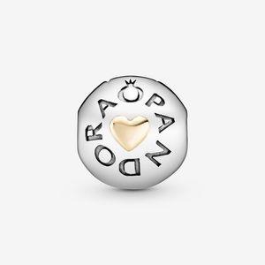 Pandora Logo Heart Clip Charm